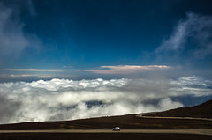 Driving over the clouds