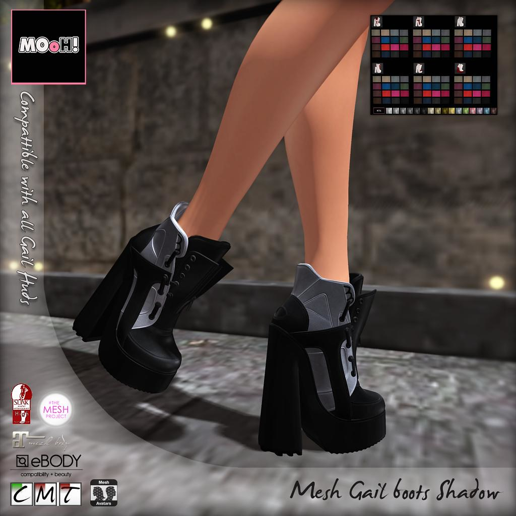 Gail boots Shadow - SecondLifeHub.com
