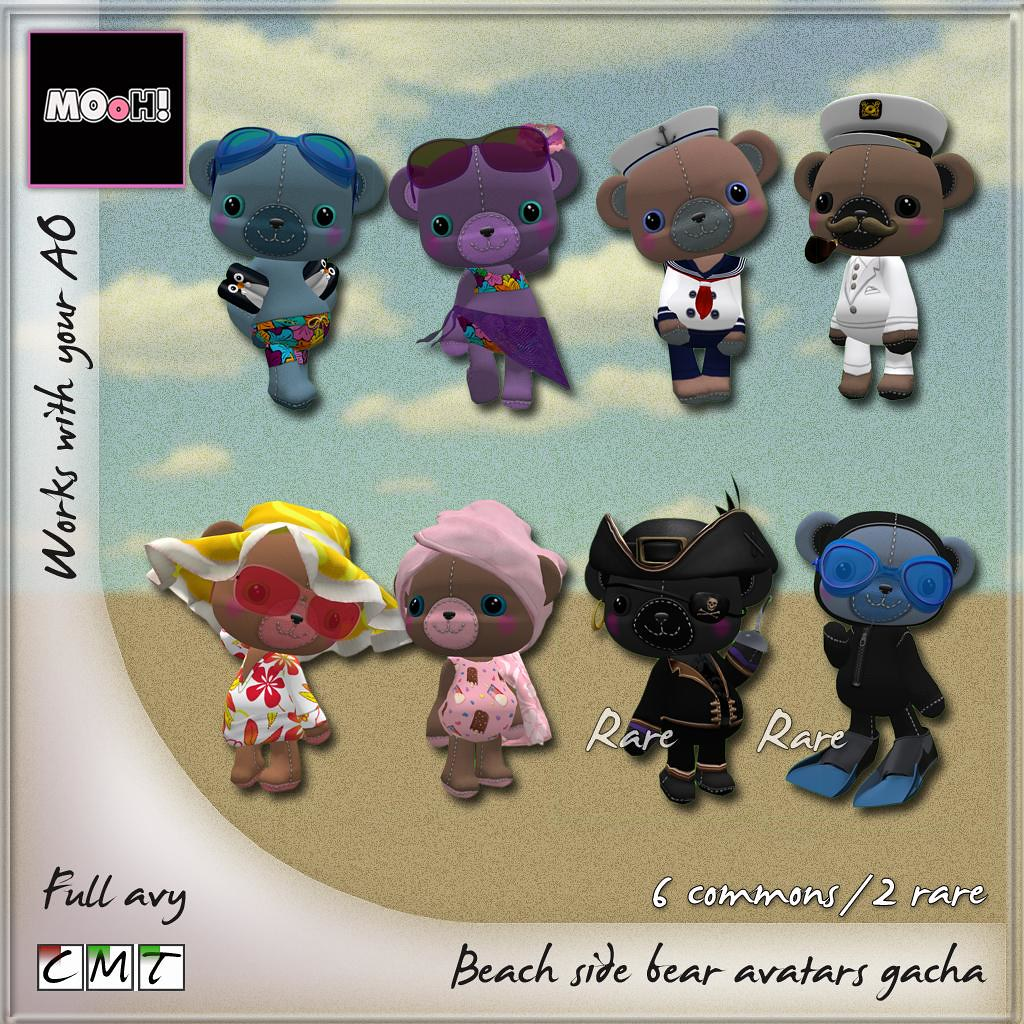 Beach side bears avatar gacha - SecondLifeHub.com