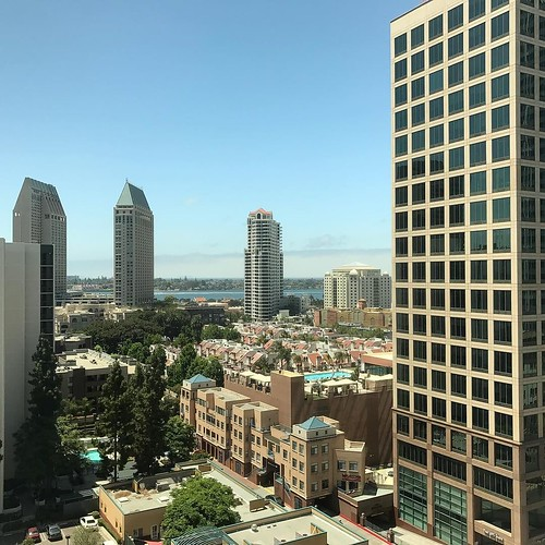 More of our view from the Westin in downtown San Diego yesterday. . . #downtownsd #downtown #sandiego #coast @westin