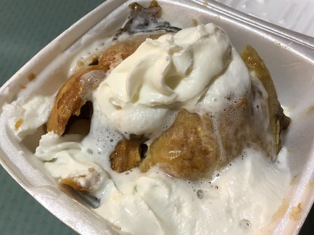 Hot apple dumpling - Dutch Eating Place