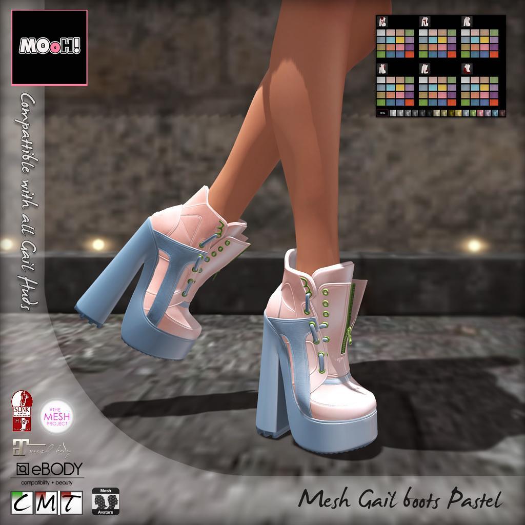 Gail boots Pastel - SecondLifeHub.com