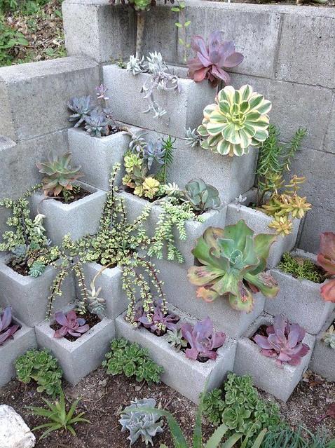 10 Impressive Cinder Block Gardens that will Take Your Breath Away