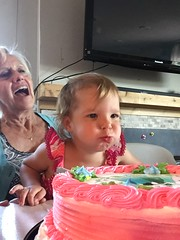 Ally blows out 2 candles