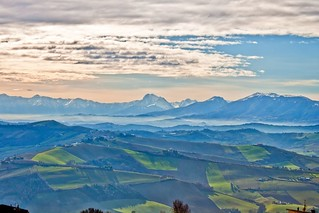 Panorama dalle Marche all'Abruzzo