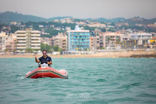 En Sergi, impresindible com sempre, coordinant la navegada a mar