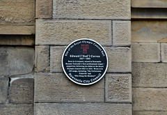 Photo of Edward Corvan black plaque