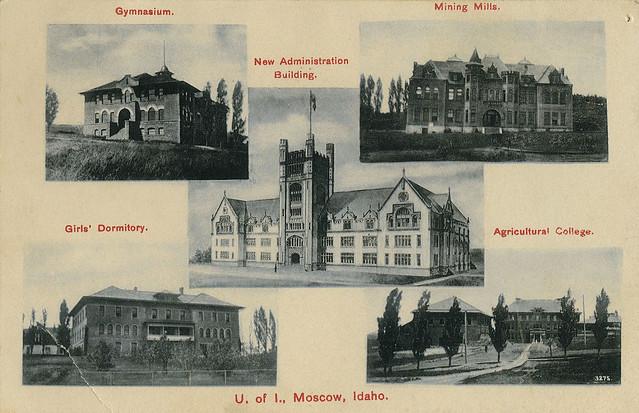 Multiview of University of Idaho, 1908 - Moscow, Idaho