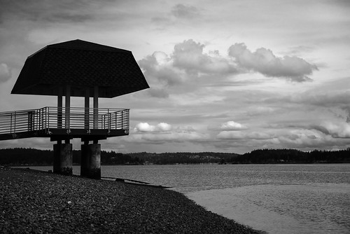 bremerton washington unitedstates blackandwhite landscape water structure clouds park