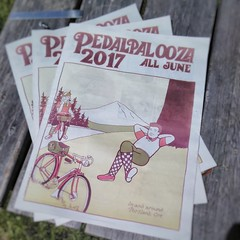 Yes, the Pedalpalooza 2017 print calendars are available! Find one in the current Portland Mercury. And yep, that's my art!
