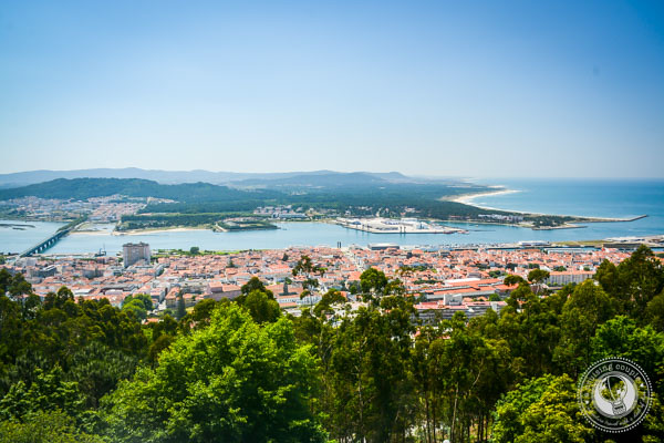 View from Santa Lucia in Viana do Castelo in The Minho Portugal