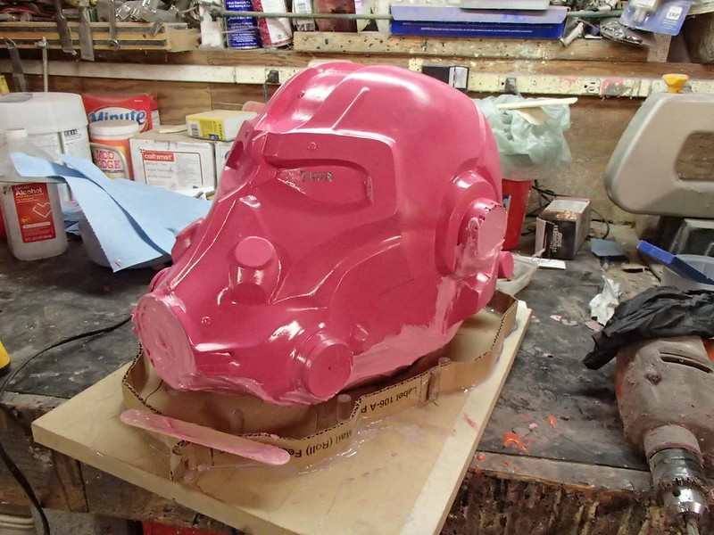 Undercuts Filled Before Mounting Helmet