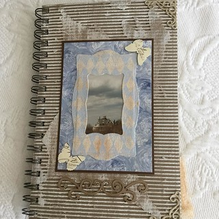 "Journal using a photo I found of the house; ""Sir John A McDonald"" which a relative had taken many years ago while driving by. #journal #journalsbysandrafoster #corrugatedpaper #corrugatedcardboard #corrugatedpapercraft #sandrafoster #sandrafosterphotograp"