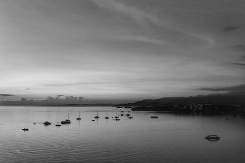boracayisland philippineisland blackandwhite touristspot dockingboats sunrise mornings