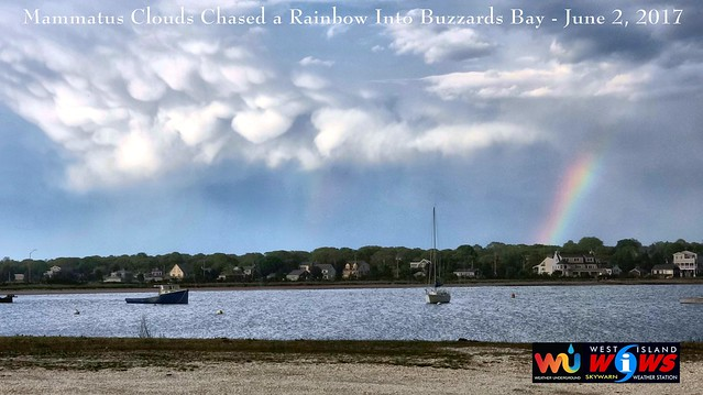 Mammatus Clouds Chased a Rainbow Buzzards Bay June 2 2017