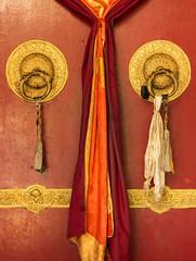 Typical Buddhist monasteries door.
