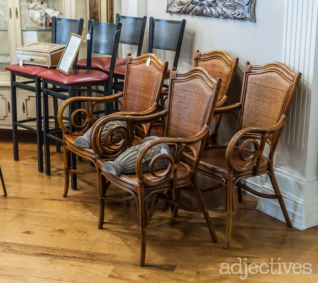 Vintage chairs and wall sconces in Winter Park by Estate Antiques