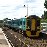 Arriva Trains Wales Class 158 Express Sprinters 158832 and 158836 pass through Codsall