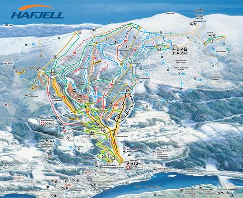 Lillehammer - Hafjell - mapa sjezdovek
