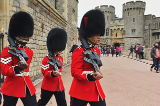 London - Windsor Castle redcoats