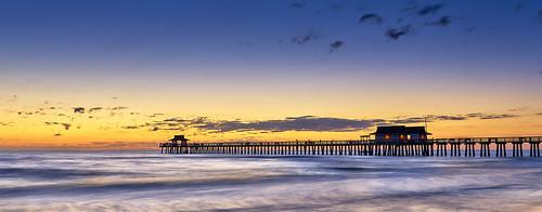 naples pier florida usa nikon nikond810 joaofigueiredo joaoeduardofigueiredo sunset dusk water sea sky beach ocean clouds