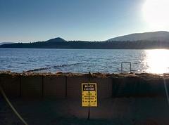 Barricades at Strathcona beach