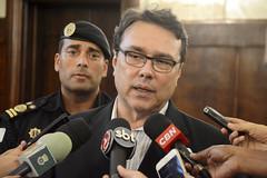 Coletiva sobre segurança com secretário Cláudio Beato e o Comandante Prattes