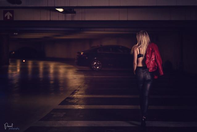Car park Sexy Woman