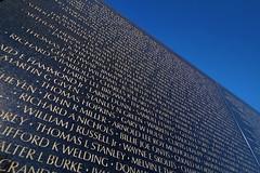 Names on the Vietnam Memorial