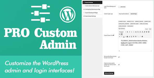 Pro Custom Admin WordPress Plugin free download