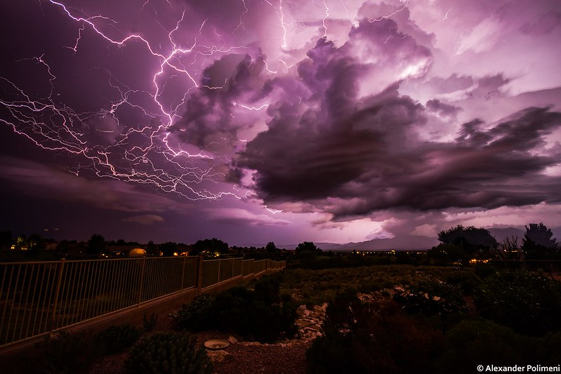 Monsoon Lightning, Cornville, Arizona