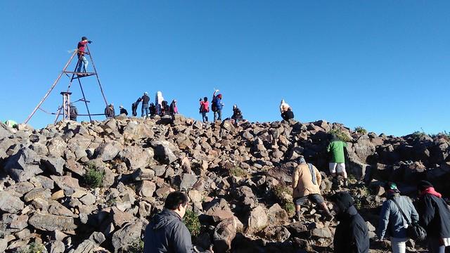 Cima del Volcán Tacaná. Diciembre 2016.
