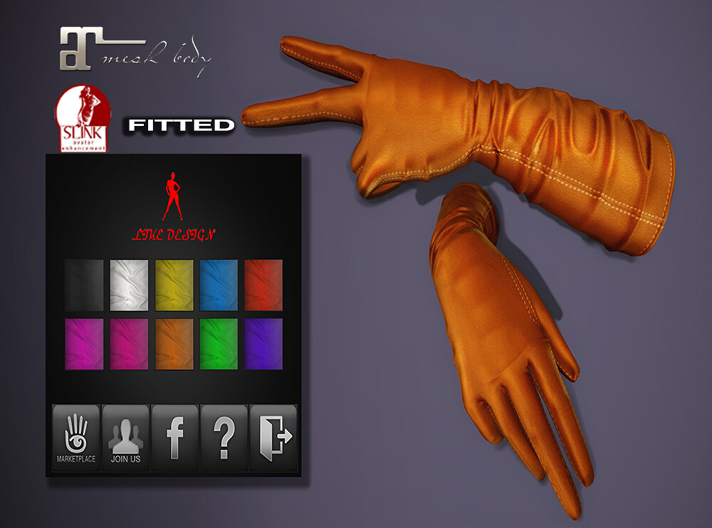 .: LIKE DESIGN :. Tali Bento  Gloves - SecondLifeHub.com