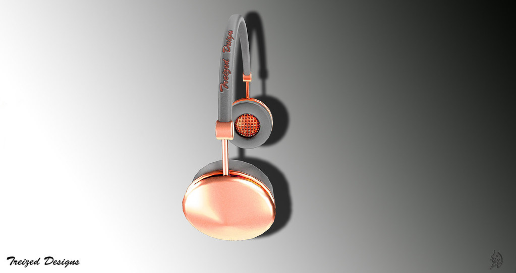 -Treized Designs-bronze headphones - SecondLifeHub.com
