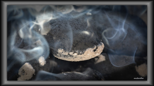 Barbeque briquettes. For my album Creativity, Close-up and Macro 1