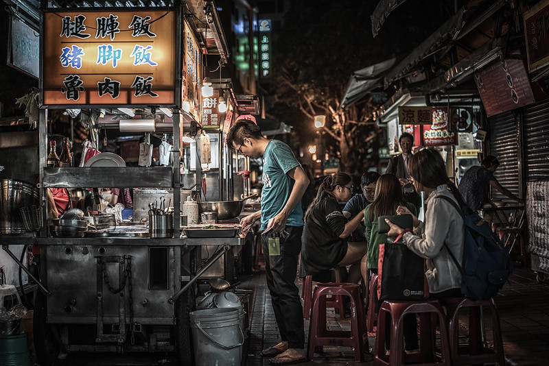 Night food market, Taipei