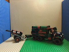 Lego military truck with artillary
