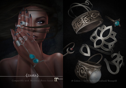 Zaara : Siya stacked rings and hand harness