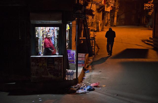 NPL- Looking after the shop - Katmandu - Nepal