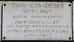 Photo of Henri Casadesus marble plaque