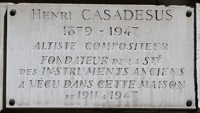 Henri Casadesus plaque, Panasonic DMC-ZS100