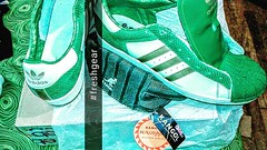 #myadidas #shelltoes #3stripesstyle #kangol #sunstopper #hat #moneygreen #nicekicks #aLLdAYidREAMaBOUTsEX