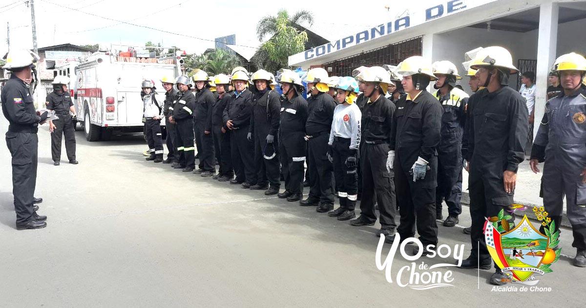Bomberos de Chone realizarán campaña de prevención