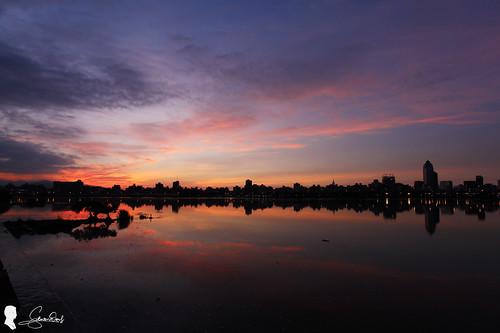 忠孝碼頭 日出 台灣 台北 canon eos5d2 ef2470 sunrise clouds 雲 天空 sky