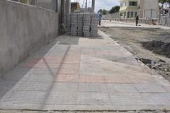 Calle Los Pinos en ciudadela Kennedy 1 con el 85% de construcción