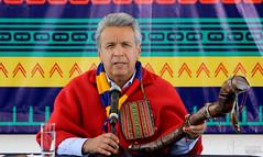 05/25/2017 - 13:09 - Cochasquí, Quito, jueves 25 de mayo del 2017 (Andes).-En las pirámides de Cochasquí, el presidente de la república Lenin Moreno realizó su primer conversatorio con representantes de los medios de comunicación. Foto:Andes/César Muñoz