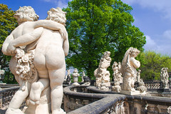 Statues at Zwinger Palace
