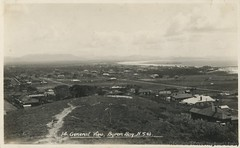 Byron Bay - view with both jetties, c1930s