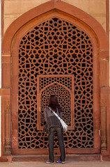 Peering in to Humayun's Tomb- New Delhi, India