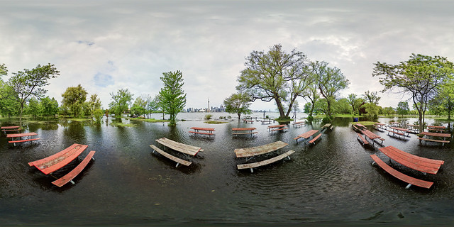 Flooded Toronto Islands